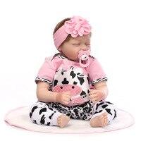 55cm Lifelike Simulation Baby Lifelike Reborn Baby Born Doll Newborn Doll Kids Silicone Soft Toy For Girls Children MA29f