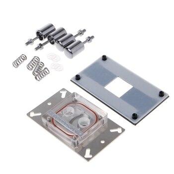 CPU Acryl Top Wasser Kühlung Block Sprayable Flüssigkeit Block Mit Kanal Für AMD