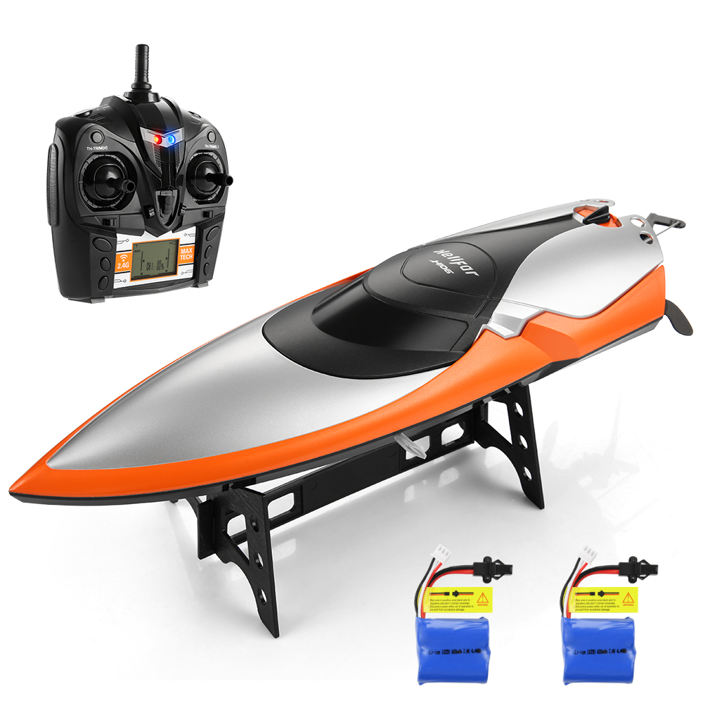 2.4GHz Wireless Remote Control Ship RC Racing Boat Motor Cooling System RC Boats High Speed 20km/H Children Electric Water Toys