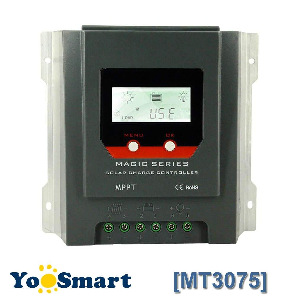 PowMr MPPT Charge Controller 30amp Negative Ground 12V 24V Auto For Sealed Gel Flooded Batteries Backlight