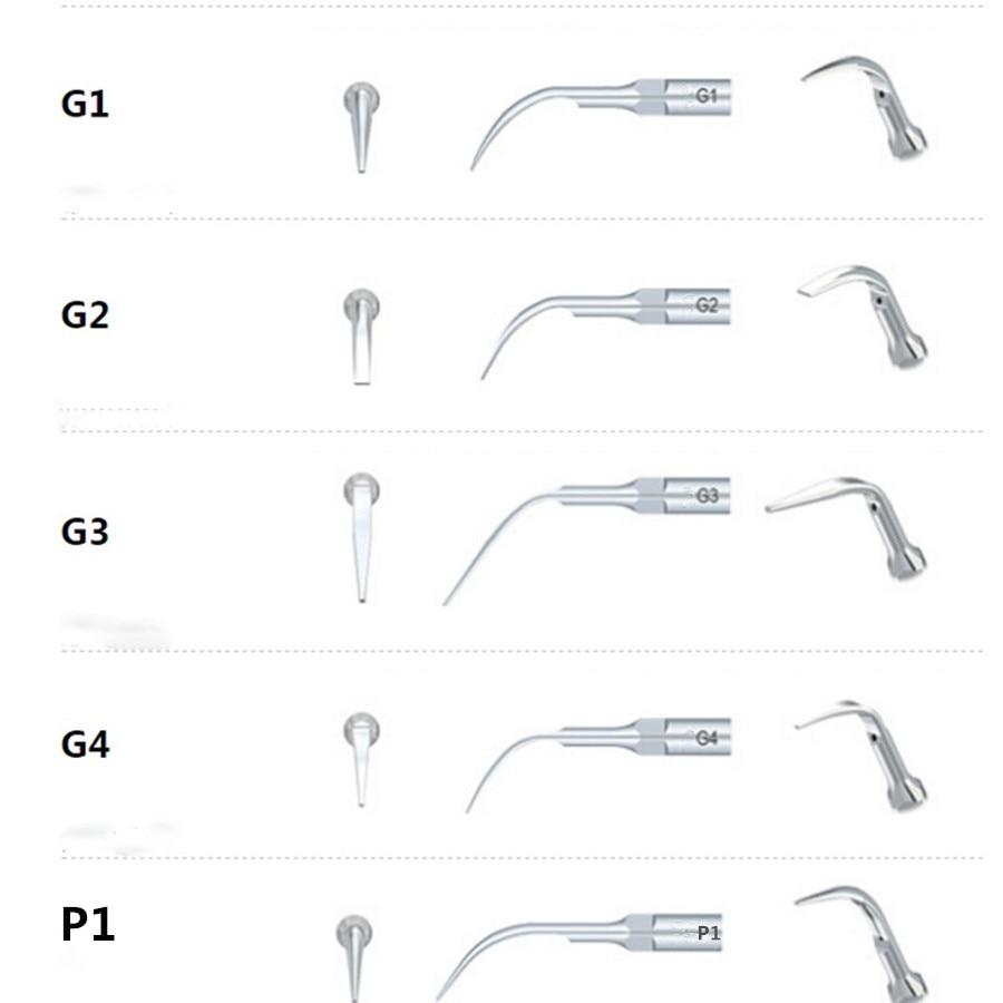5 Pcs/lot Ultrasons Dentaire Scaler Conseils G1 G2 G3 G4 P1 Dents Cleanning Outils de Matériel Dentaire Pour La Dentisterie
