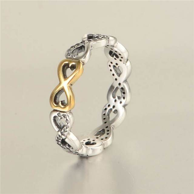 Latest Weave Light Yellow Gold Heart 925 Sterling Silver Rings