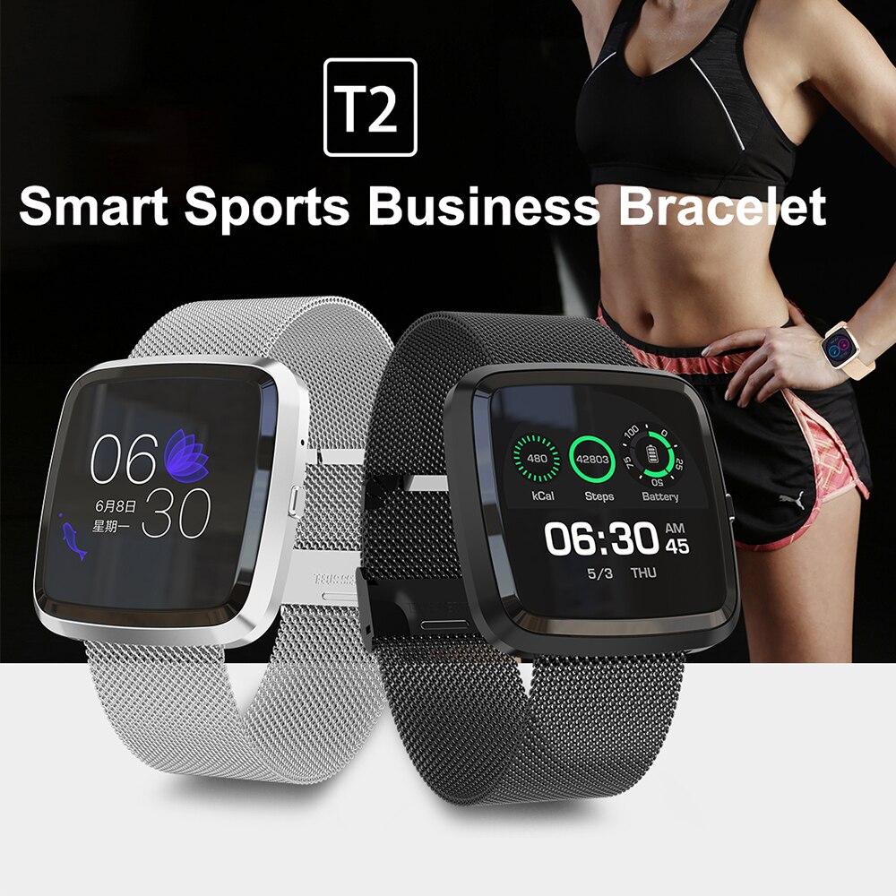 Timethinker T2 Men Women Smart Watch Reloj Deportivo IP68 Waterproof Sports Smartwatch Blood Pressure Heart Rate Monitor