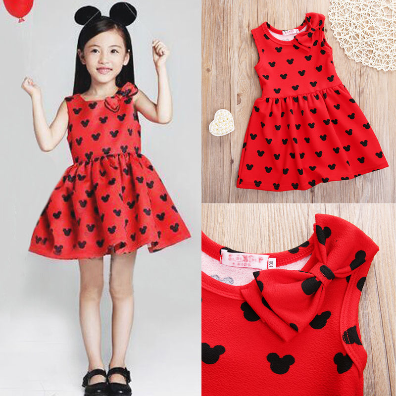 baby girl summer font b dress b font children res Minnie Mouse sleeveless clothes kids casual
