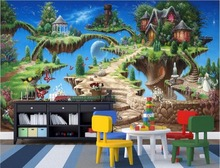 цены WDBH custom mural 3d wallpaper fairy tale castle park child room home decoration painting 3d wall murals wallpaper for wall 3 d