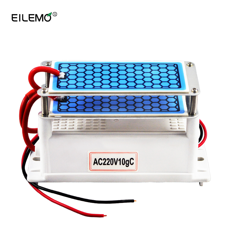 EILEMO 10000mg Ozone Generator 10g 220v/110V DIY Air Purifier for Home Double Integrated Long Life Ceramic Plate newest ozone generator 220v 10g ozonizer sterilizer air purifier for home ceramic plate long life for deodorization 10g h output