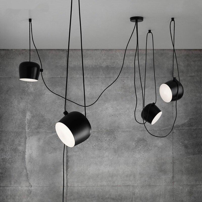 купить Modern Drum led pendant lamp Restaurant clothing store window pendant light creative led indoor Home lighting Hang Lamp Decor по цене 2151.37 рублей