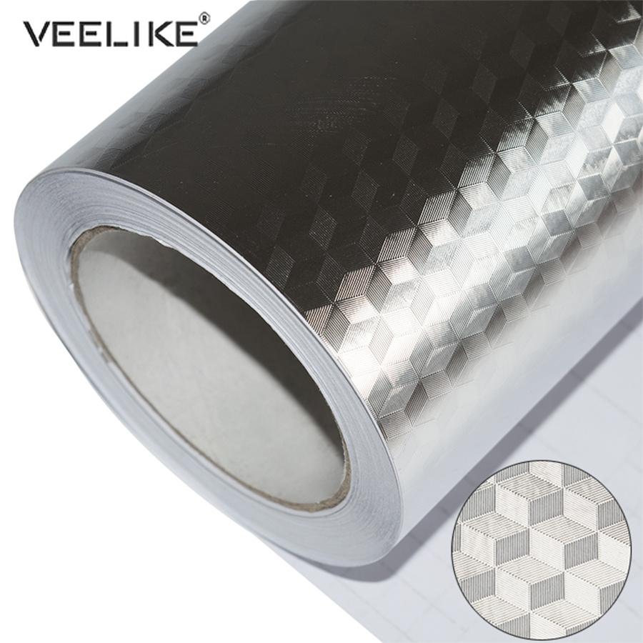 PVC Vinyl Self Adhesive Waterproof Wallpaper Aluminum Foil Kitchen Cabinet Countertop Wall Decor Decal DIY Home Anti-oil Sticker