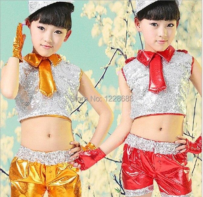 New Arrival Hot Sale Cheap Sequin Blue Red Orange Yellow 110xm-160cm Costume Dance Jazz For Girls Jazz Dress / Jazz Costume
