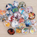 20Pcs/lot Cartoon Animals Button Snap Mixed 25 Style Pikachu Pokemon Snap Botton Jewelry For Snaps Bracelets Necklaces