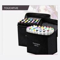TouchFIVE สีปากกา Marker น้ำมันแอลกอฮอล์วาดศิลปิน Sketch เครื่องหมายปากกาสำหรับ Animation Manga Art Supplies