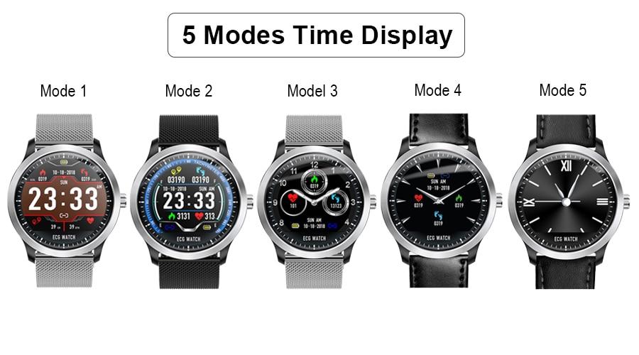 Scomas n58 ecg ppg relógio inteligente homem