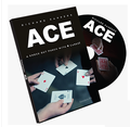Free shipping ACE (Cards and DVD) by Richard Sanders - Card Magic Trick,street,illusion,fun,Close Up,mentalism