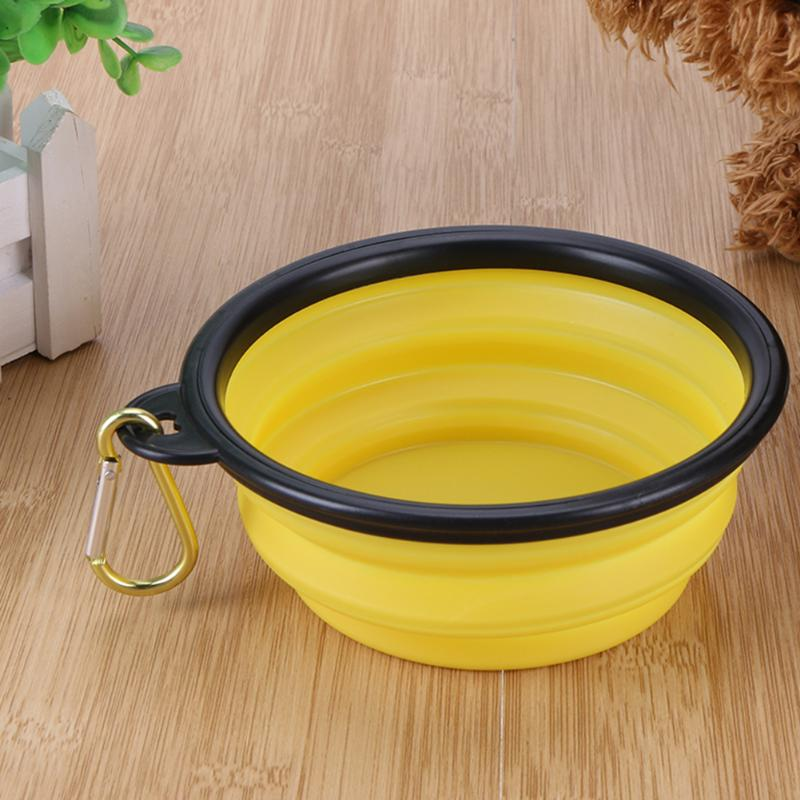 Bowls For Dog Folding Collapsible Feeding Bowl Silicone Water Dish Cat Portable Feeder Puppy Pet Travel Bowls #3
