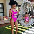 Mom&Baby Family Matching Swimwear One Piece Swimsuit Monokini Push Up Padded Bikini Bathing One-Piece Suits