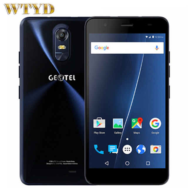 4G GEOTEL NOTE 3GB/16GB 5.5'' Android 6.0 MTK6737 Quad Core Cortex-A53 up to 1.25GHz Cell Phones Dual SIM FM OTA 8MP 3200mAh