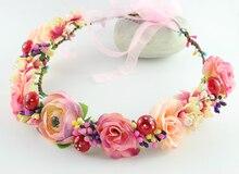 Корея Новые свежий морской пляж цветы венок головной убор цветок головной убор невесты невесты аксессуары для волос венок праздник