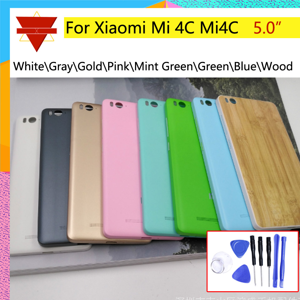 Case Battery-Cover Door-Housing Mi4c Xiaomi Chassis-Shell Back New for Rear