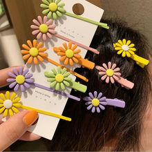 New Spring Color Hairpin Daisy Flower Hair Clips Hairgrip Barrettes Star Bangs Fashion For Woman Girls Accessories