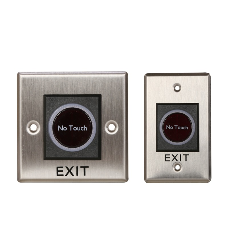 12V IR No Touch Door Infrared Sensor Touchless Exit Button Switch for Access Control Systems Garage Openers no touch exit switch inductive exit button sensor access control dc12v with led indicator f1743d