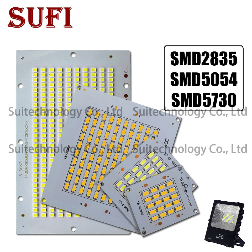 Full Power LED Floodling Source SMD5730 10W 20W 30W 50W 100W 150W 200W Light Board LED Aluminum Plate For DIY LED Floodlight