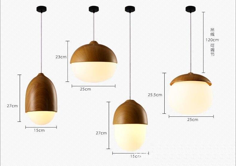 Kitchen Island 120cm lukloy pendant lights, modern nordic pinecone led kitchen light