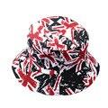 Chapéu de Balde de verão Floral Para Meninas Homens Hip Hop Chapéu De Pesca boonie chapéu de pescador plana para as mulheres leopardo bandeira rockstar cap homens