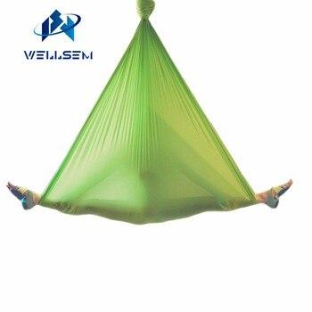 5 meter Elastische 2016 Antenne yoga Hangmat Swing Nieuwste Multifunctionele Anti-gravity yoga riemen voor yoga training yoga voor sporting