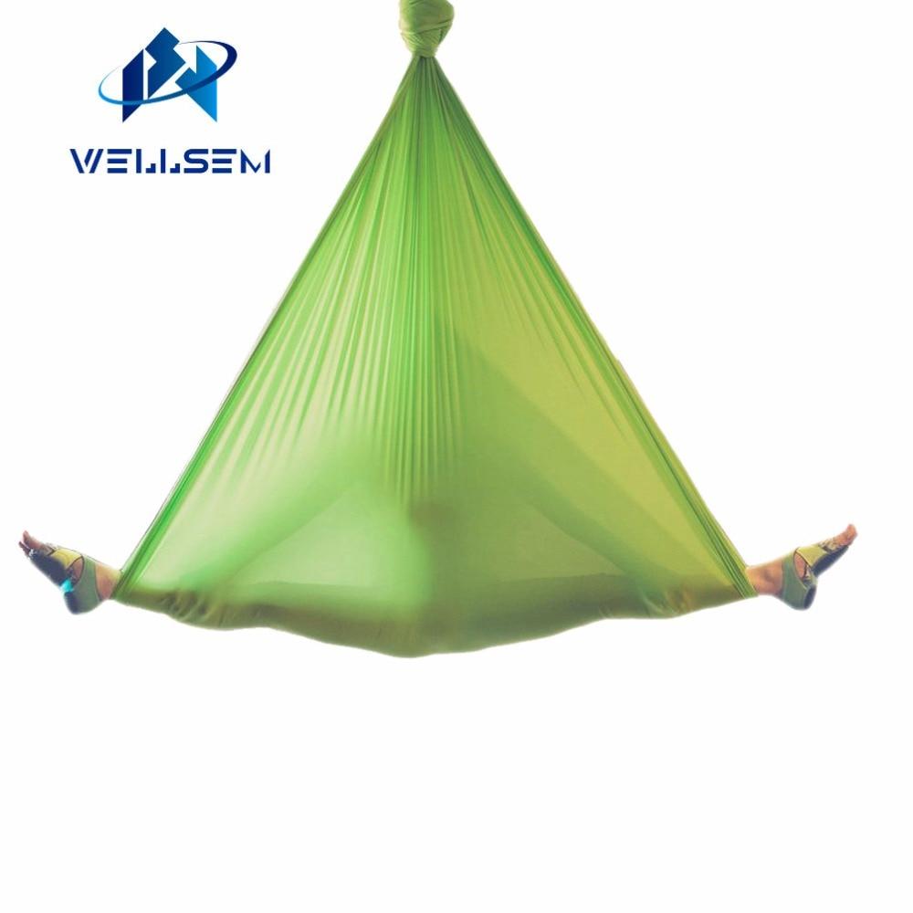 5meter Elastic 2016 Aerial Yoga Hammock Swing Latest Multifunction Anti-gravity Yoga belts for yoga training Yoga for sporting aerial anti gravity yoga belt w elastic orange