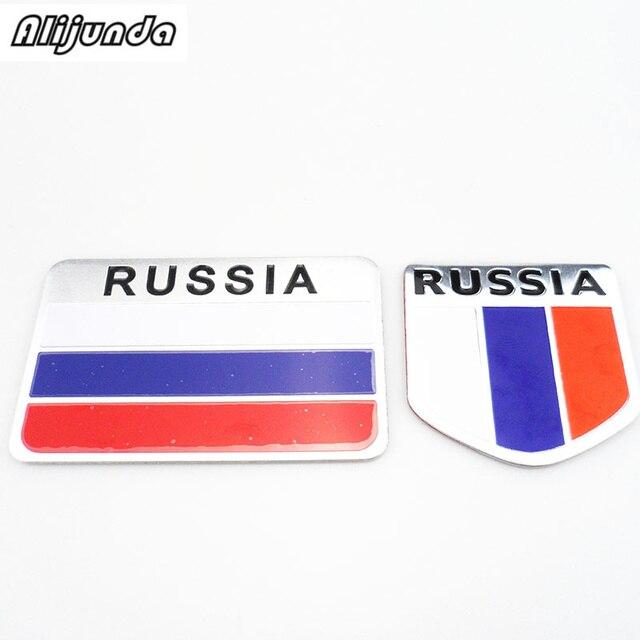 Hoge Kwaliteit Rusland Auto Sticker 3d Vlag Logo Label Sticker