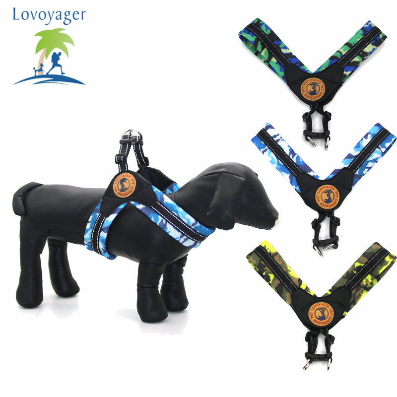 Camouflage Mesh Dog Harness medium size dogs comfort for walking Reflective Pet Training Vest S/M/L