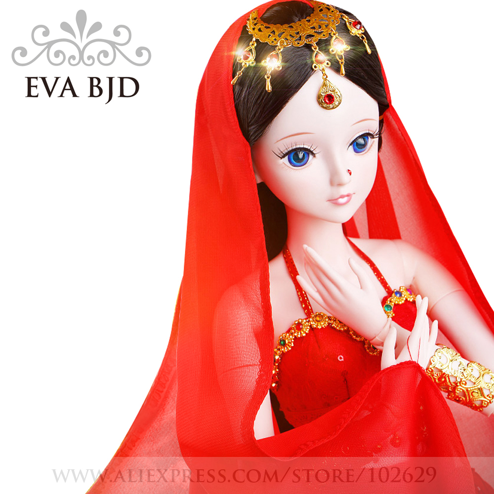 22 EVA BJD 1/3 BJD Doll SD Doll 56cm 19 jointed dolls Indian Dancer Beauty Toy ( Free Eyes + Hair + Makeup + Clothes + Shoes ) 4 x 1kg refill laser copier color toner powder kit kits for xerox copycentre c 2128 2632 3545 c2128 c2632 c3545 printer