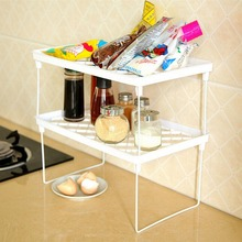 1 Layer Multifunction Bathroom Kitchen Shelf Spice Rack Foldable Organizer Storage Cabinet Cupboard Organization Holders Racks