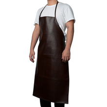 Lady Women Men Leather Cooking Baking Aprons Waterproof Oil-Proof Kitchen Apron Restaurant Aprons For Women Home Sleeveless