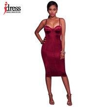 191a92315 IDress Mulheres Vestidos New Arrival 2017 Sexy Spaghetti Strap Vestido Sem  Mangas Backless Nightclub Bodycon Vestidos