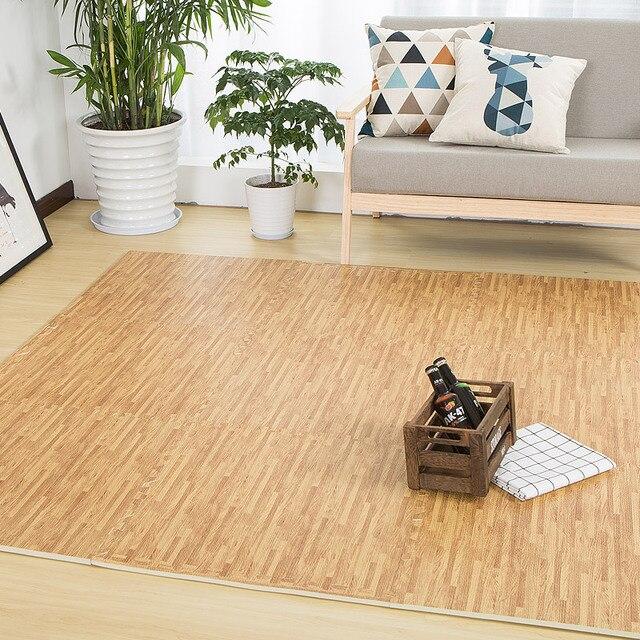 Actionclub Wood Grain Eva Foam Mat Waterproof Rug Candy Flooring Tile Crawling