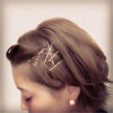 10pcs letter  creaseless Hair Clips Hairpins Gold Metal Waved Curly Barrettes Bobby Pins For Women Girls Styling Accessories