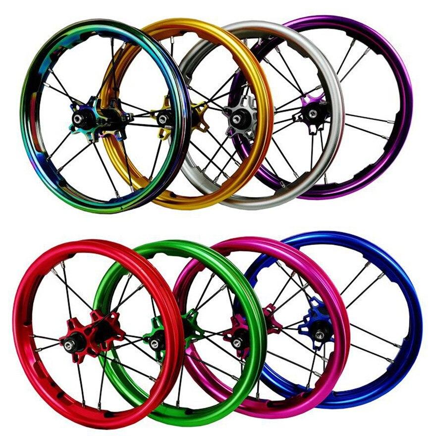 Roues de vélo coulissantes 12 pouces roulement scellé BMX enfants enfants roues de vélo de glissière d'équilibre 85mm 95mm BMX jantes 260g seulement