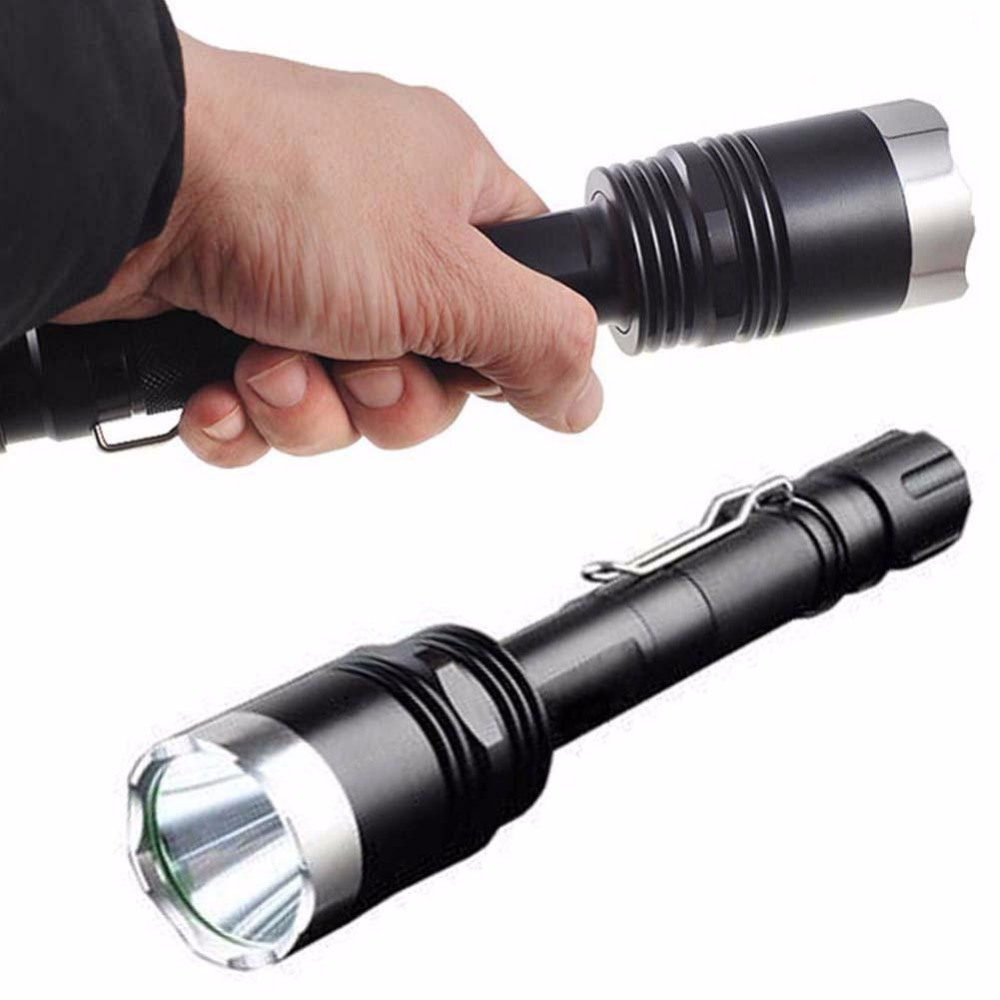 Waterproof 3000LM 5-Modes  XM-L T6 LED Flashlight Adjustable Focus Torch 2*18650 Battery Flashlight Torch Lamp Light outdoor camping cree xm l 2000lm waterproof 5 modes focus adjustable led flashlight torch light lamp with 18650 and bike clip