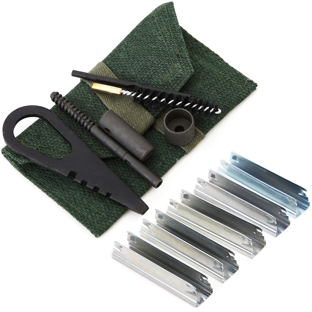 5pcs Spring Steel Stripper Clip 7.62x54 Mosin Nagant 5 round  Magazine stripper clips And Rifle 6 Piece Cleaning Kit