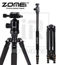Zomei z668 전문 알루미늄 합금 삼각대 키트 모노 포드 dslr 카메라 라이트 컴팩트 휴대용 스탠드보다 q666