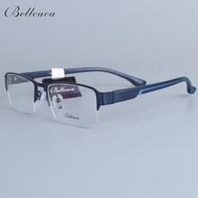 Bellcaca Spectacle Frame Men Eyeglasses Nerd Computer Optical Transparent Clear Lens Eye Glasses For Male Eyewear 12006