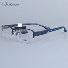 Bellcaca Spectacle Frame Men Eyeglasses Nerd Computer Optical Transparent Clear Lens Eye Glasses Frame For Male Eyewear 12006(China)