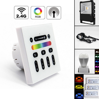 Mi Light 2 4G 4 Zone Touch Screen RGB RGBW Led Controller Wireless RF Remote Controller