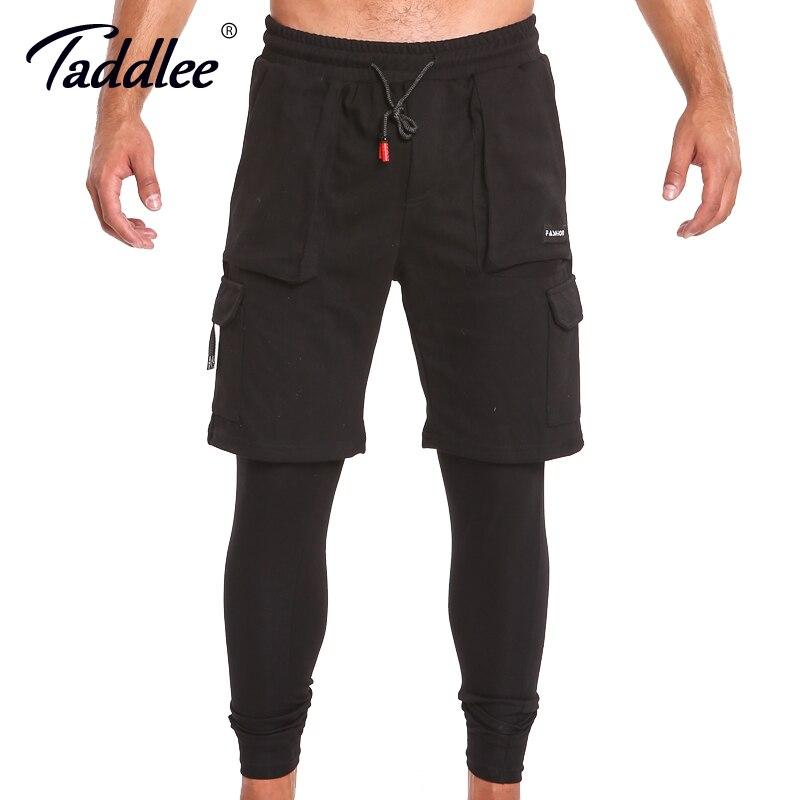 Taddlee Brand Leggings Men Workout Trousers Skinny Tight Black Long Pants Active Slim Fit Bottoms SweatPants Fitness Gasp Jogger mens joggers 2017 brand male trousers men pants casual pants sweatpants jogger black xxxl adbbb