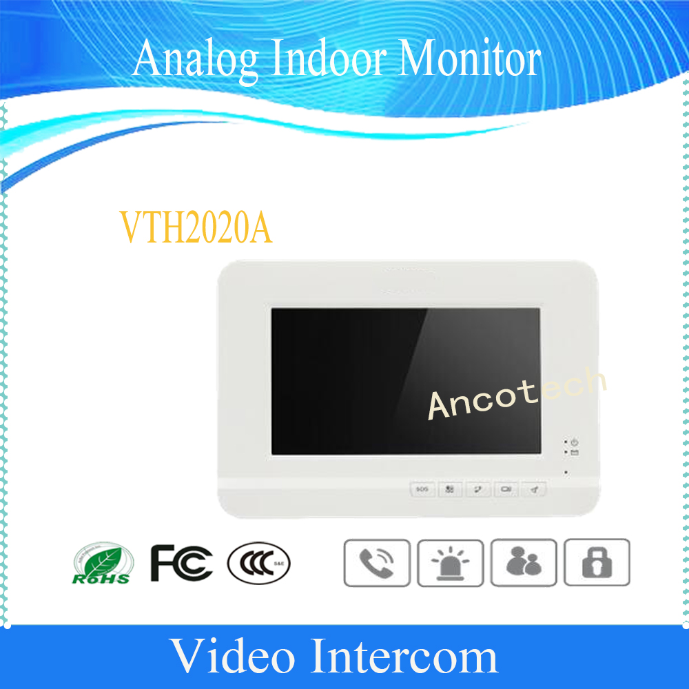 Free Shipping DAHUA Video Intercom 7 TFT LCD screen Analog Indoor Monitor Color video audio intercom without Logo VTH2020A fast free shipping 7 inch tft lcd screen color video door phone video indoor monitor machine for diy intercom system