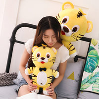 65/85cm YESFEIER Cartoon Kawaii anime tiger Plush Toy soft stuffed animal tiger doll home sofa decor christmas gift for children