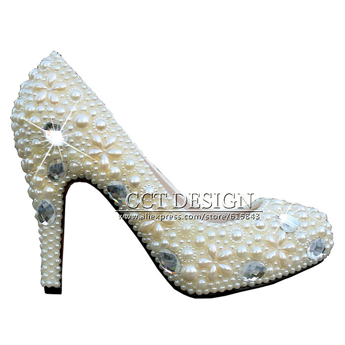 2017 Summer Handmade Women Rhinestones And Pearls White Ivory Wedding Shoes Fashion High Heels Bridal Party Pumps Free Shipping bwimana aembe reintegration of ex child soldiers for a peace process