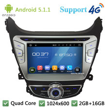 Quad Core 8″ 1024*600 2DIN Android 5.1.1 Car DVD Player Radio Stereo FM BT DAB+ 3G/4G WIFI GPS Map For Hyundai Elantra 2014 2015