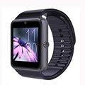 Gt08 femperna smart watch reloj inteligente bluetooth cartão sim smartwatch sincronização notificador de conectividade para a apple ios android phone